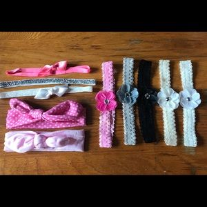 Other - Babygirl Bow Headband Lot